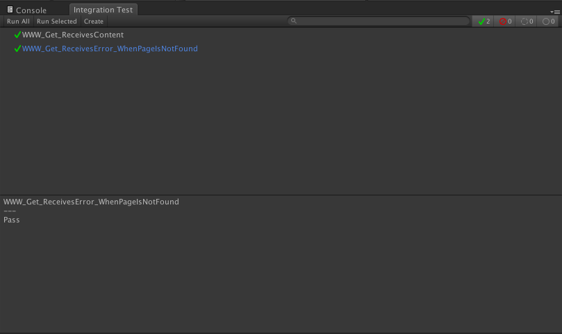 unity integration test runner